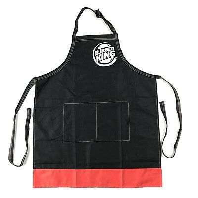 NEW Burger King Logo Kitchen Apron Fast Food Collectible Grilling Work Outfit