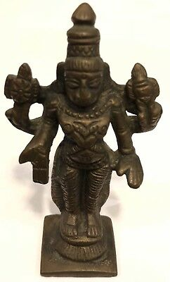 Antique Early Indian Bronze Sculpture of Vishnu