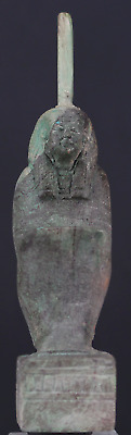 Egyptian glazed Maat statue 9,9 cm.