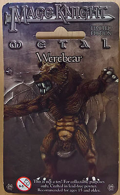 WizKids Mage Knight Metal - 546 Werebear Limited Edition (Sealed)