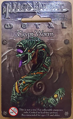 WizKids Mage Knight Metal - 547 Crypt Worm Limited Edition (Sealed)