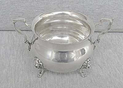 USA ANTIQUE STERLING BY POOLE 33 GEORGIAN SUGAR BOWL 171gr. LION LEGS HAMMERED
