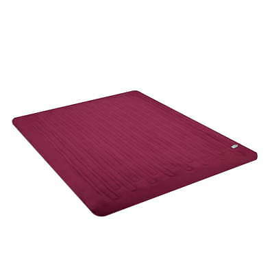 Giselle Bedding Washable Heated Electric Throw Rug Snuggle Blanket Fleece Red