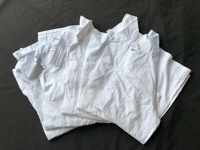 Set Of 5 Very Good Condition Ex-Rental White Lab-Warehouse Coats, Small-Xxxl