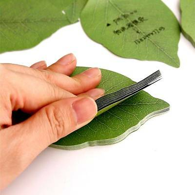 3pcs Cute Green Leaves Leaf Shape Sticky Notes Novelty Marker Memo Note Pad Gift