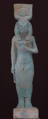 Egyptian stone of Isis Statue 9,5 cm.