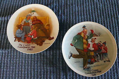 Csatari Grandparent Plates -The Bedtime Story 1980 - The Skating Lesson 1981