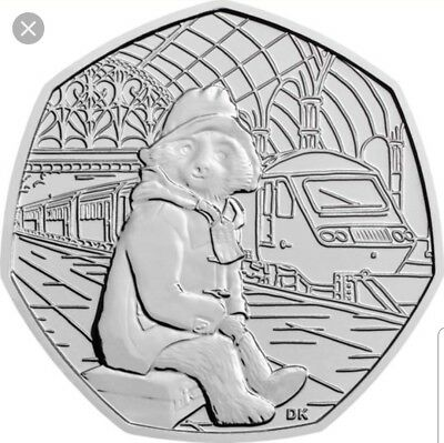 Paddington Bear 50p STATION. 2018 fifty pence from Sealed Bag. FREE POST