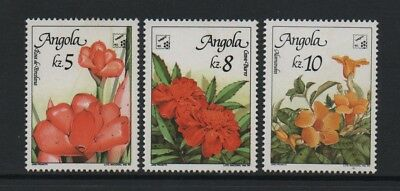 """Angola """"belgica 90"""" Stamp Exhibition - Flowers *vf Mnh Set*"""