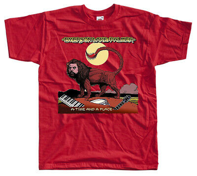 Emerson, Lake and Palmer: A Time and a Place, T-Shirt (RED) All size S-5XL