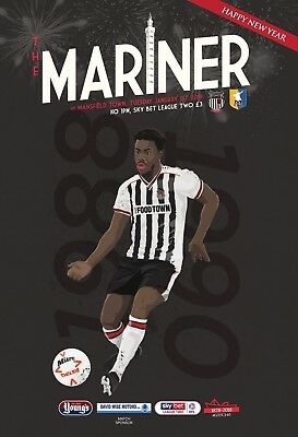Grimsby Town Football Club - 18/19 Programme - Mansfield Town - 01/01/19