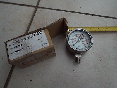 Wika Pressure Dial Gauge 100 Bar / 1400 Psi / 232.30.063