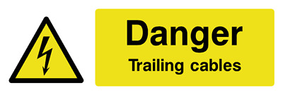 Danger Trailing cables safety sign