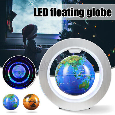 LED Magnetic Levitation Globe Levitating Floating World Map Kids Xams Gift Decor