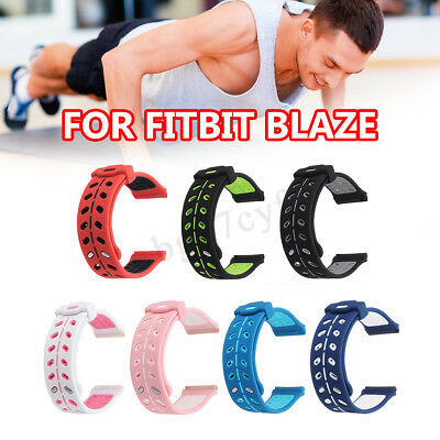 Breathable Soft Silicone Sport Watch Strap Wrist Band Bracelet For Fitbit