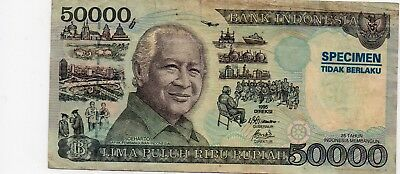 Indonesia Specimen 1995 50.000 Rupiah ( RARE ) As Seen