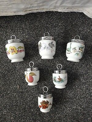 ROYAL WORCESTER COLLECTION OF 6 EGG CODDLERS (3 x KING SIZE & 3 x SINGLE SIZE)