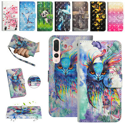 For Huawei Honor 10 9 Lite 7A Shockproof Leather Flip Card Slot Stand Case Cover