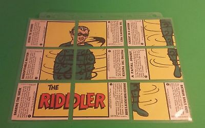 1966 Deluxe Reissue Batman Trading Cards-9 Piece The Riddler-(Incomplete)-Topps
