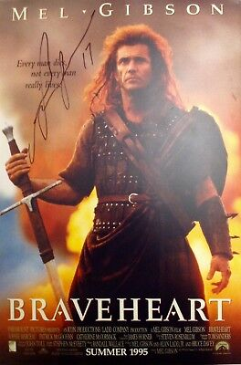Mel Gibson Authentic Signed Braveheart 18X12 Photo Aftal#198