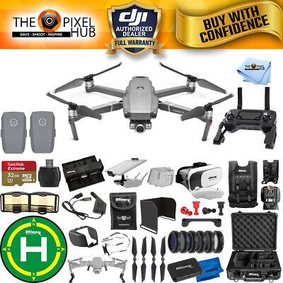 DJI Mavic 2 Zoom 2 Battery PRO Accessory Bundle with Aluminum Case + MUCH MORE