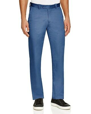 7c040bba BLOOMINGDALES MENS CHINOS NWT Cotton Pants Cadet Blue Khakis Slim Fit 34W x  32L