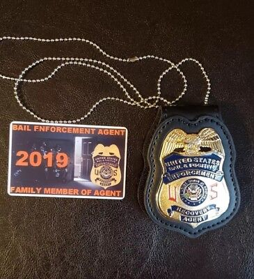 Bail Enforcement Agent Badge with family member card included