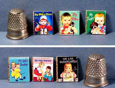 Dollhouse Miniature 1:12 Six Little Golden Books Wilkins Covers - puppy kitten