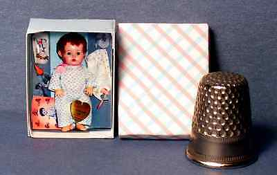 Dollhouse Miniature 1:12 Dy Dee Baby Layette Doll Box - 1950s Dollhouse girl