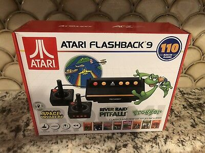 New! Atari Flashback 9 HDMI Game Console 110 Games Wired Joystick Controllers