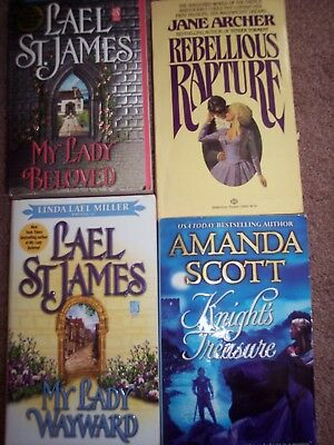 Lot of 54 Paperback Romance Novels (various authors)