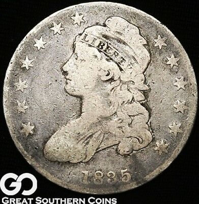 1835 Capped Bust Half Dollar, Early Date Silver Half