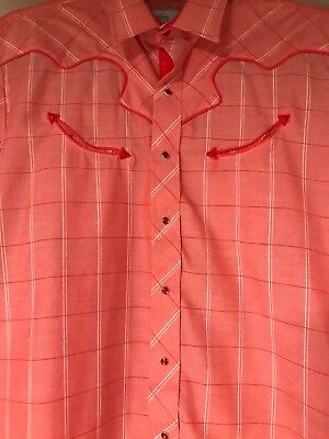 Kenny Rogers Mens Long Sleeve Shirt Western Collection By Karman VTG Size Large