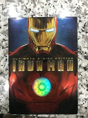 Iron Man Ultimate 2 Disc Edition DVD w/ Slipcover Fast Free Shipping