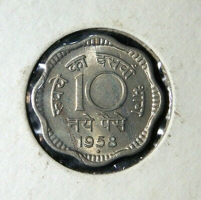 India 1958 5 & 10 Paise; 1959 1 Paisa, 2 Paise and 10 Paise (Bombay & Calcutta)