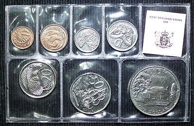 New Zealand - 1977 - 7 Coin Official Mint Set Silver Jubilee - Hard to Find!