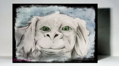 "Unique Art  print on wood  Falkor  ""The Neverending story"" Retro Classic Movie"