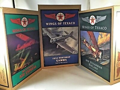 Wings of Texaco Coin Bank Plane Lot Of 3 -1st 2nd 3rd In Series NEW Vintage