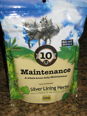 SILVER LINING HERBS #10 Maintenance Whole Healthy Horse Equine 1 Pound