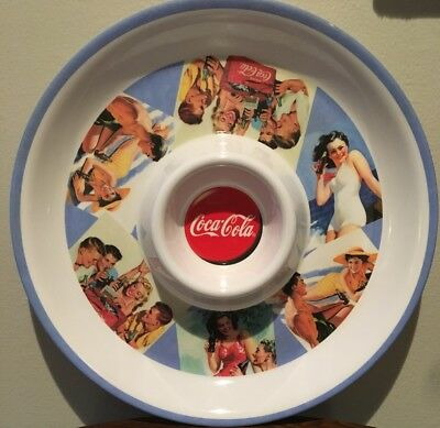 Vintage Coca Cola Collectible Melamine Chip And Dip Tray