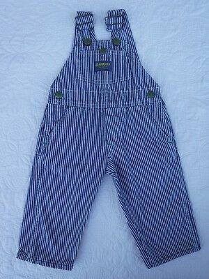 Vintage Childs Osh Kosh Railroad Overalls 1960s? Striped Union Made 4T?