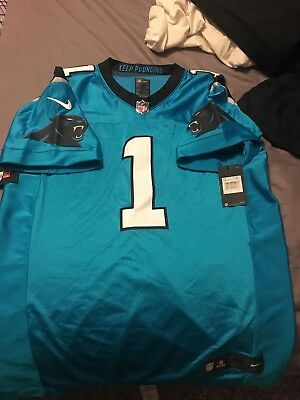 Nike Carolina Panthers Cam Newton  1 Player Issue Elite Jersey Size 48 XL   325 66652b8bd