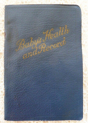 Vintage Baby's Health & Record Book 1929 Nursery Tips Calgary AB Local Eaton Ads