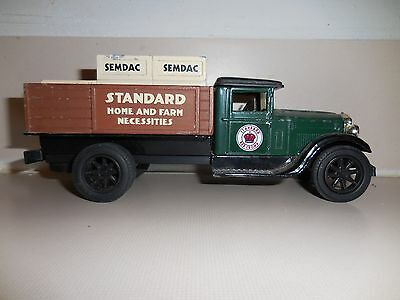 1995 Ertl Die Cast Toy Truck Bank American Classic Amoco Lic. Made In Usa