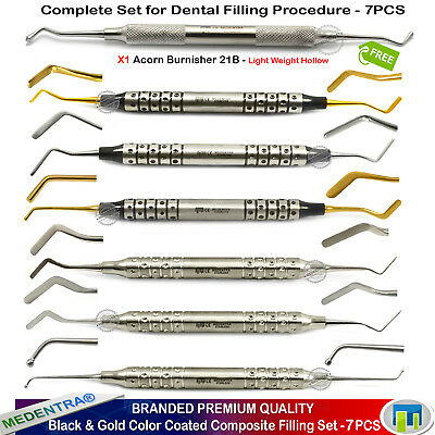 MEDENTRA® Black/Gold Dental Filling Tooth Cavity Composite Fillings Complete Set
