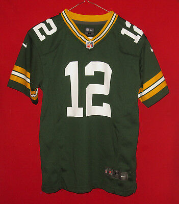 separation shoes 1ecf5 abff3 NICE NFL NIKE Green Bay Packers Aaron Rodgers Jersey Youth Medium 10-12