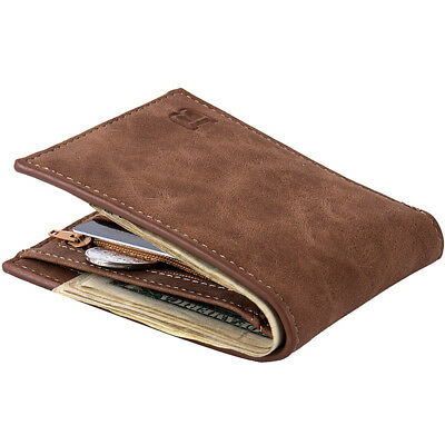 Men Credit Card Holder Leather Bifold Clutch Billfold Coin Purse Wallet Pocket