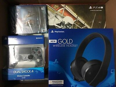 Sony PS4 PRO 1TB Spider-Man Limited Bundle With GOW DS4 & Headset, NIB FAST SHIP