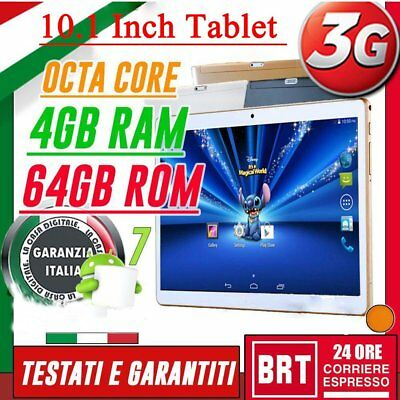 TABLET 10 POLLICI 3G OCTA CORE 8x2.0GHz 4GB RAM 64GB ROM ANDROID 7 DUAL SIM