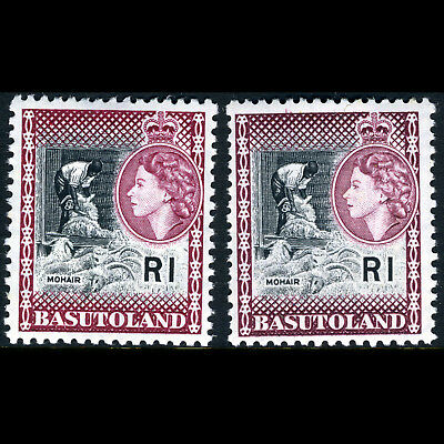 BASUTOLAND 1961-63 1R  2 Shades. SG 79 & 79a. Mint Never Hinged. (AW163)